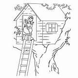Stilt Coloring Tree Printable Drawing Easy sketch template