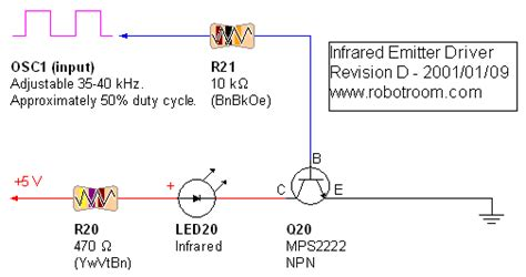Infrared Transmitter Khz Nand Oscillator