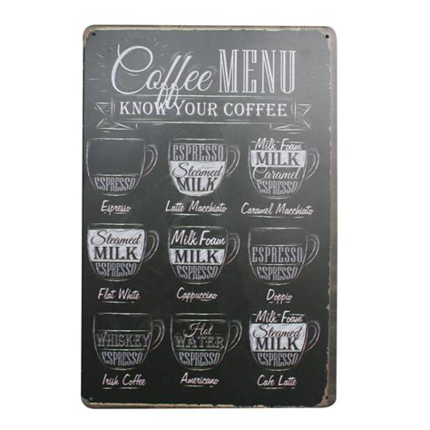 """Earthling got to anchor from west in negril to east in port antonio and along the north coast in montego bay, discovery bay, and ocho rios. Vintage Coffee Shop Menu Sign """"Coffee Menu"""""""