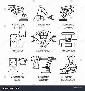 Isolated Black Assembly Line Icon Set Stock Vector ...