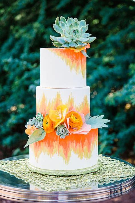 subtle watercolor wedding cake ideas deer pearl flowers