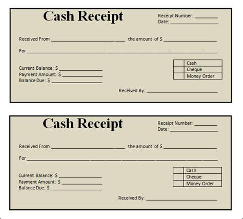 13 blank receipt template
