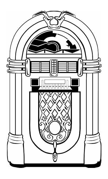 Jukebox Fifties Clip Svg Clipart Clker Royalty
