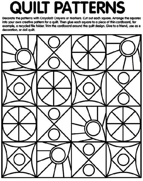 quilt patterns coloring page crayolacom