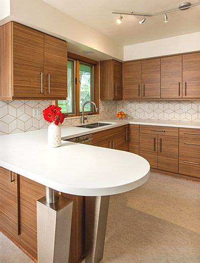 mid century modern kitchen backsplash mid century modern kitchen design with a unique geometric 9162
