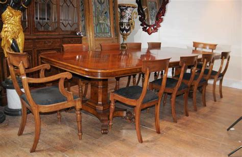 walnut regency dining table chairs set suite