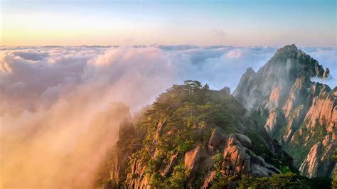 china huangshan yunhai sunrise alpine scenery preview