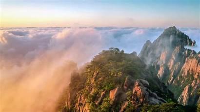 Sunrise China Huangshan Scenery Yunhai Alpine 10wallpaper