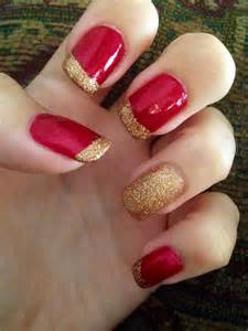 Best ideas about red and gold nails on