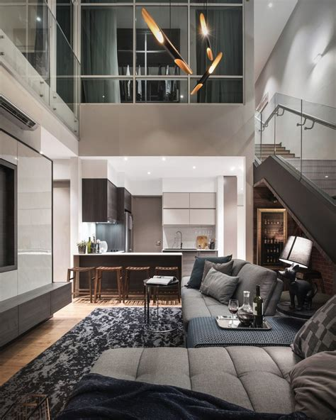 Living Room Apartment Interior Design by Scent Residence Penang Vault Design Lab