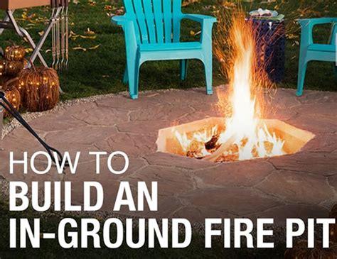 diy  ground fire pit