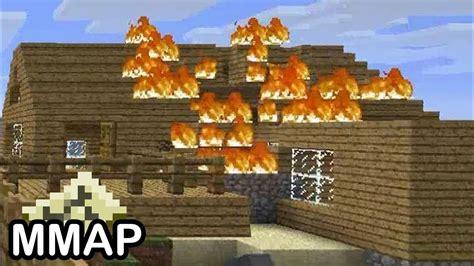 minecraft  house  burning  youtube