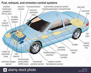 Fuel  Exhaust And Emission Control Systems Stock Photo