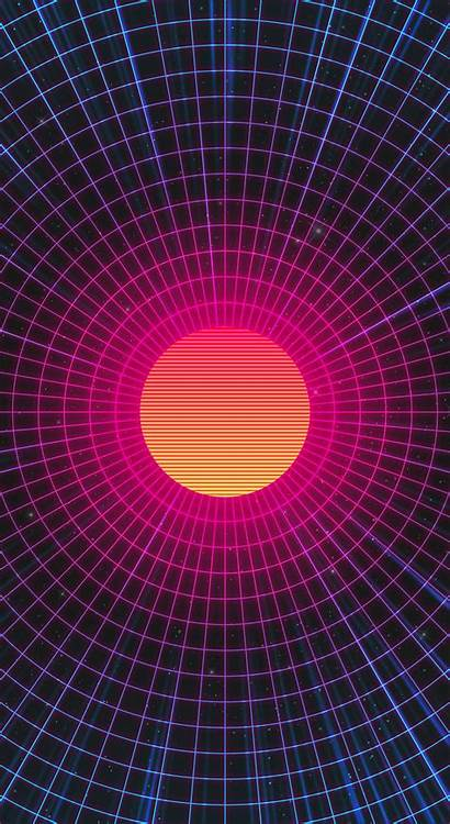 Neon Artwork Sun Abstract Wallpapers