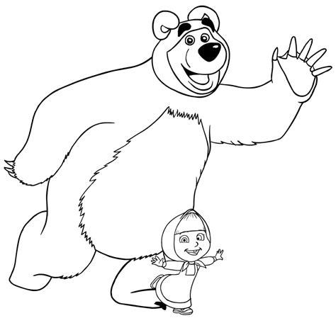 disegni di mascia e orso da colorare disegno da colorare di masha e orso