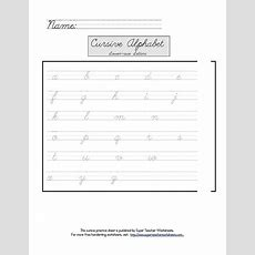 Super Teacher Worksheets (free)  Lean Into It Tools For Teaching Tots Cursive If Their Schools