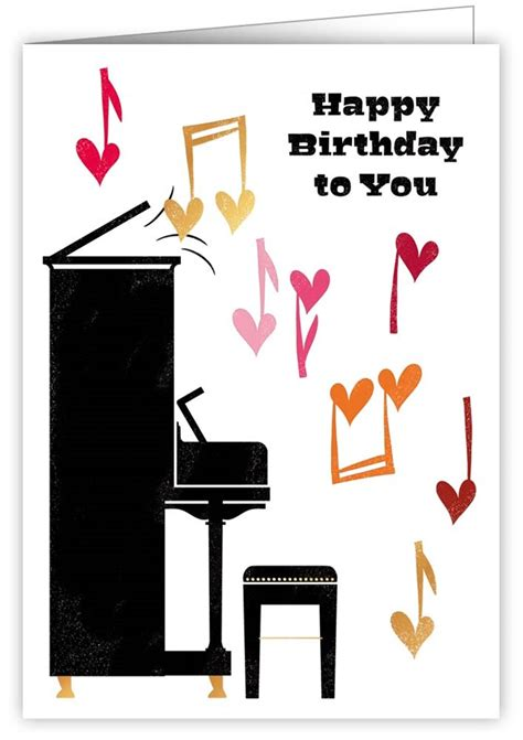 Cards » Print Lover » Happy Birthday Piano - 2712 - Quire ...