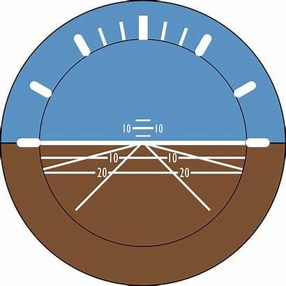 Attitude Indicator Horizon Aviation Artificial Bank Clip