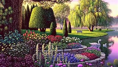 Garden Secret Anime Background Wallpapers Fantasy Gardens