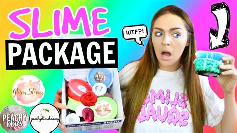 Slime Package Unboxing From Famous Etsy Slime Shops! Gl
