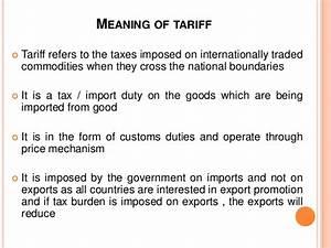 global businee managemetn:tariffs and non tariffs barriers
