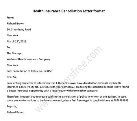 sample letter format  surrender  life insurance policy