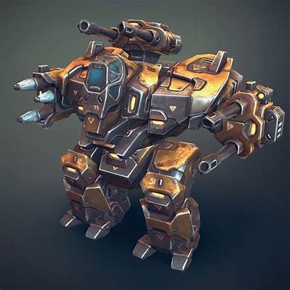Robot Mech Heavy 3d Low Poly Models