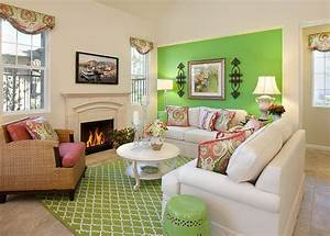 23 green wall designs decor ideas for living room for Green living room walls