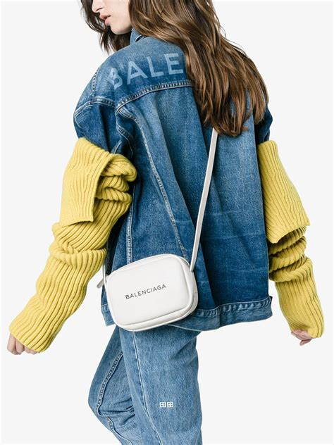 balenciaga everyday camera bag  white lyst