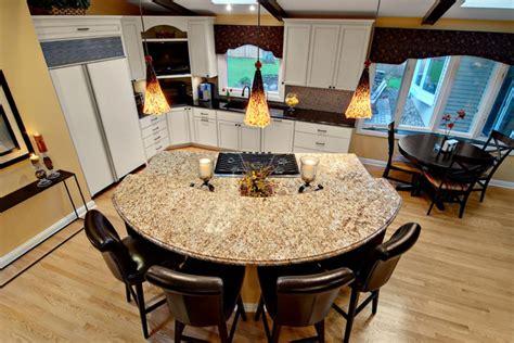 semi circle kitchen table semi circular granite island contemporary kitchen
