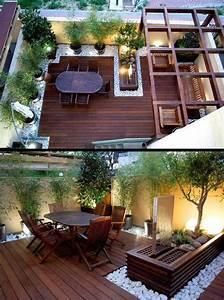 awesome idee deco grand jardin ideas awesome interior With lovely idee de terrasse exterieur 5 idee decoration bureau original