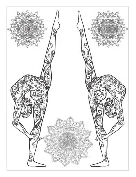 yoga poses coloring and a well on pinterest