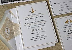 vintage nyc letterpress wedding invitations sesame With wedding invitations cheap nyc