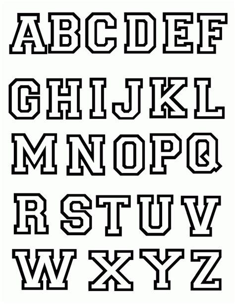 dibujos de letras abecedario para colorear e imprimir gratis