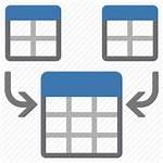 Merge Icon Table Concatenate Unite Data Editor