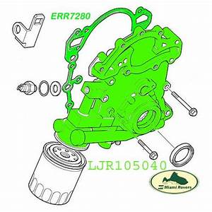 Land Rover Oil Pump Engine Front Cover Discovery 2 Ii 4 6l 03