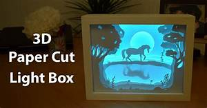 How To Create A 3D Paper Cut Light Box DIY Project