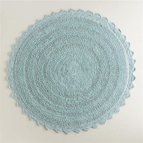 french blue round bath mat world market
