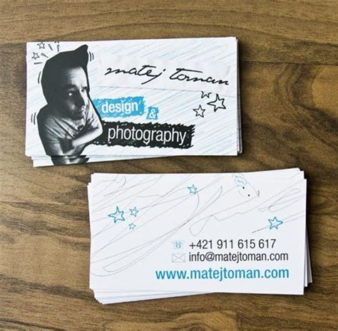 interesting examples   portrait business cards