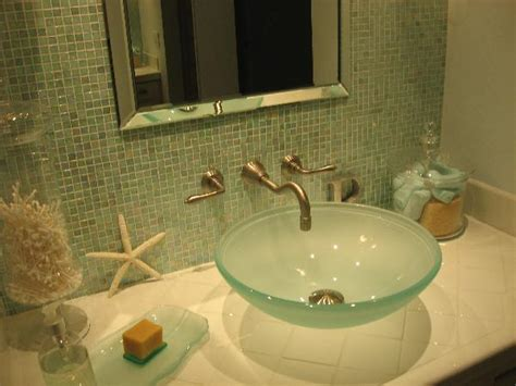 frosted glass sink cottage bathroom hgtv