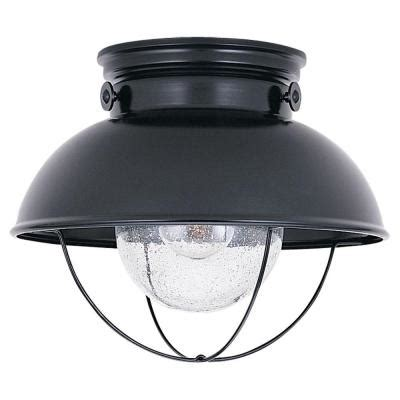 sea gull lighting sebring 1 light black outdoor ceiling