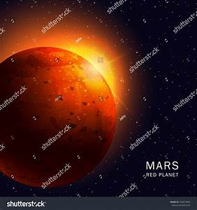 Abstract Background Mars Planet Bright Red Stock Vector ...