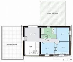 Plan Maison A Etage : maison nergie positive 2 d tail du plan de maison nergie positive 2 faire construire ~ Melissatoandfro.com Idées de Décoration