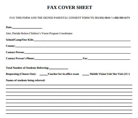 sample office fax cover sheets sample templates