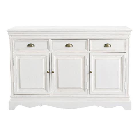 living room tv furniture paulownia wood sideboard in white w 131cm joséphine maisons du monde