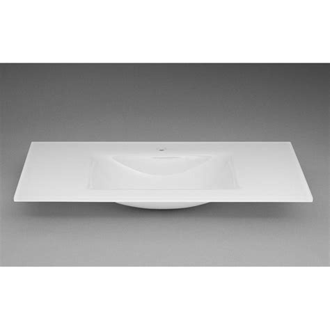 ronbow 37 tempered glass sinktop with single faucet hole