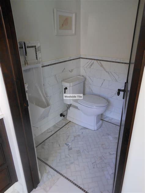 calacatta gold marble tile luna master bath