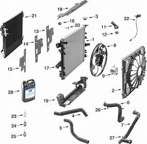Jeep Wrangler Jk Radiator Parts