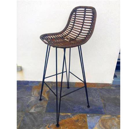 chaise de bar en osier chaise de bar en rotin maison design wiblia com