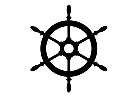 Boat Wheel Outline by Ship S Wheel Silhouette